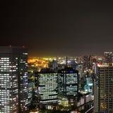 pejzaż miejski noc Tokyo Obraz Stock