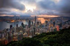 Pejzaż miejski od Hongkong Obraz Royalty Free
