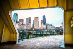 Pejzaż miejski od tunelu Zdjęcia Royalty Free