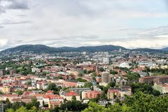 Pejzaż miejski Oslo Norway Obrazy Royalty Free