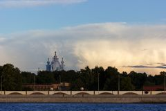 Pejzaż miejski Petersburg Zdjęcia Royalty Free