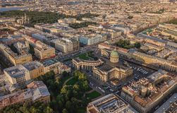 Pejzaż miejski Petersburg, Rosja Zdjęcia Stock