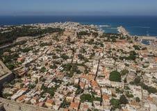 Pejzaż miejski Rhodes Zdjęcie Stock