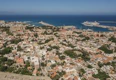 Pejzaż miejski Rhodes Zdjęcie Royalty Free