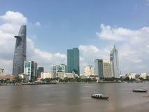 Pejzaż miejski Saigon, Wietnam Zdjęcie Royalty Free