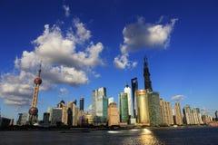 Pejzaż miejski Shanghai Obrazy Royalty Free