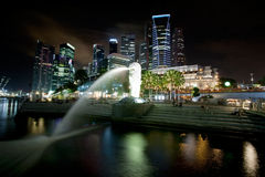 pejzaż miejski Singapore Obraz Stock
