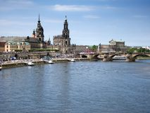Pejzaż miejski stary Dresden Obrazy Stock