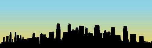 pejzaż miejski sylwetki wektor Obraz Royalty Free