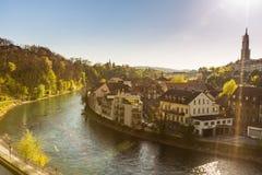 Pejzaż miejski w Berne, Szwajcaria Obraz Stock
