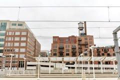 Pejza? miejski W centrum Denver, Kolorado zdjęcia stock