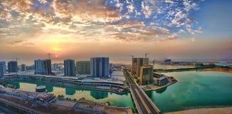 Pejzaż miejski w jeden nowi miasta w Bahrajn obrazy stock