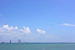 pejzaż miejski wyspy padre Texas Zdjęcie Royalty Free