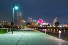 Pejzaż miejski Yokohama miasto przy nocą Obrazy Royalty Free