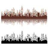 Pejzaż miejski z kolorów punktami Obrazy Royalty Free