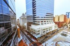 Pejzażu miejskiego budynek 815 SW Parkuje Ave w w centrum Portland, LUB, Obrazy Stock