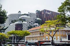 Pejzażu miejskiego drapacza chmur architektury zmierzch Obraz Stock
