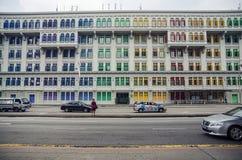 Pejzażu miejskiego drapacza chmur architektury zmierzch Fotografia Stock