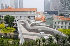 Pejzażu miejskiego drapacza chmur architektury zmierzch Fotografia Royalty Free