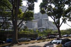 Pejzażu miejskiego drapacza chmur architektury zmierzch Obraz Royalty Free