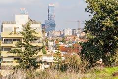 Pejzażu miejskiego miasta Tel Aviv budynków miastowy widok Zdjęcie Royalty Free