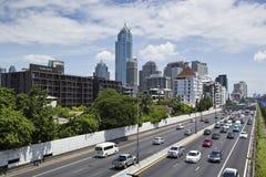 Pejzażu miejskiego widok w Bangkok, Tajlandia Obrazy Royalty Free