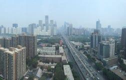PEKÍN, CHINA - CIRCA junio de 2015, la opinión sobre Beijing' financia de s fotografía de archivo libre de regalías