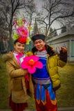 PEKÍN, CHINA - 29 DE ENERO DE 2017: La gente que asiste a los Años Nuevos justos en Longtan parquea, mercado del chino tradiciona Fotografía de archivo libre de regalías
