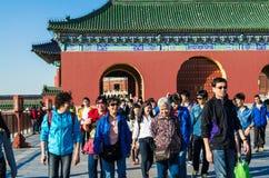 PEKÍN, CHINA - 15 de octubre de 2013: El Templo del Cielo complejo, Pekín, China fotografía de archivo