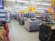 Estante del supermercado Fotografía de archivo