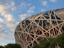 PEKÍN - 14 DE JUNIO DE 2011: La jerarquía el estadio de nacional de Pekín del pájaro en Pekín Fotografía de archivo