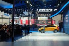 Pekín, el 20 de abril de 2014, motor de Hyundai en la décimotercero exposición internacional del automóvil de Pekín Fotos de archivo