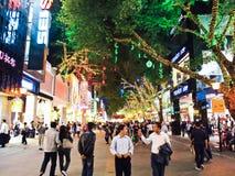 Pekín Lu es una de las compras principales de Guangzhou Fotografía de archivo libre de regalías