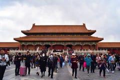 Pekín, Vietnam, el 30 de marzo de 2019: El caminar vietnamita en Pekín, la ciudad Prohibida en Vietnam foto de archivo libre de regalías