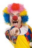 peka för 2 clown Arkivbilder
