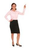 peka för affärskvinna arkivfoto