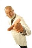 peka för doktor royaltyfri fotografi