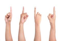 peka för finger Royaltyfri Bild