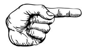 peka för finger royaltyfri illustrationer