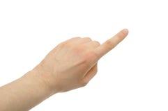 peka för finger Royaltyfria Foton