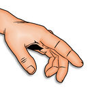 peka för finger Arkivbilder