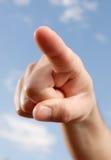 peka för finger Royaltyfria Bilder