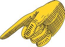 Peka för finger Fotografering för Bildbyråer