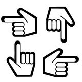 peka för fingerdiagram Arkivfoton