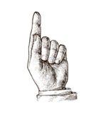 peka för fingerhand också vektor för coreldrawillustration stock illustrationer