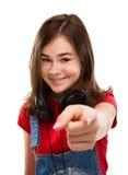 peka för flicka fotografering för bildbyråer