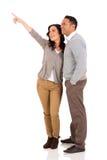 Peka för gift par fotografering för bildbyråer