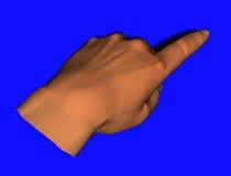 peka för hand Royaltyfri Foto
