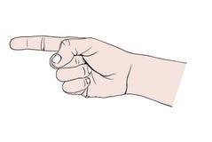 peka för hand stock illustrationer