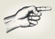 peka för hand Arkivfoton